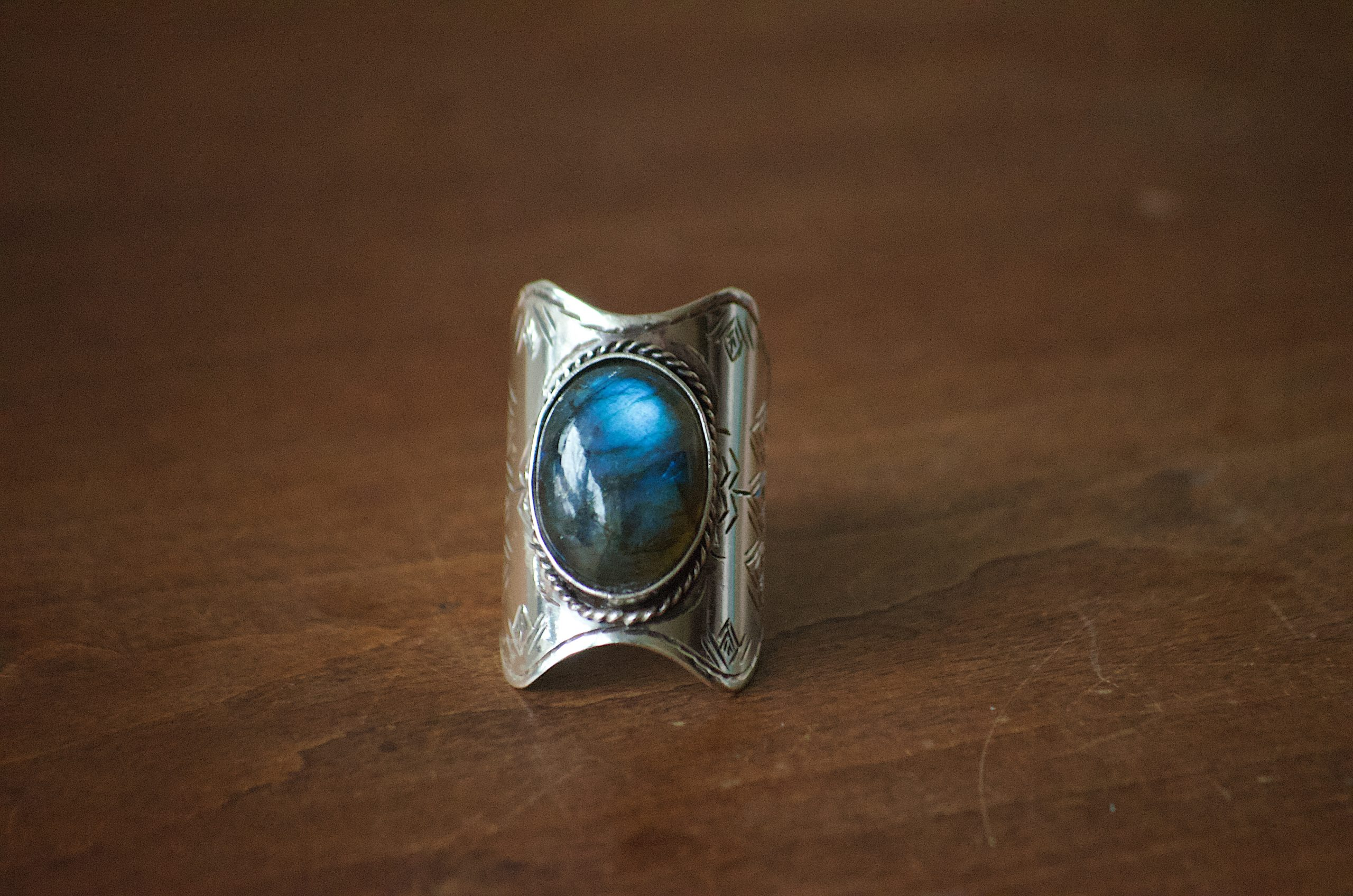 Sterling Silver Ring in Labradorite