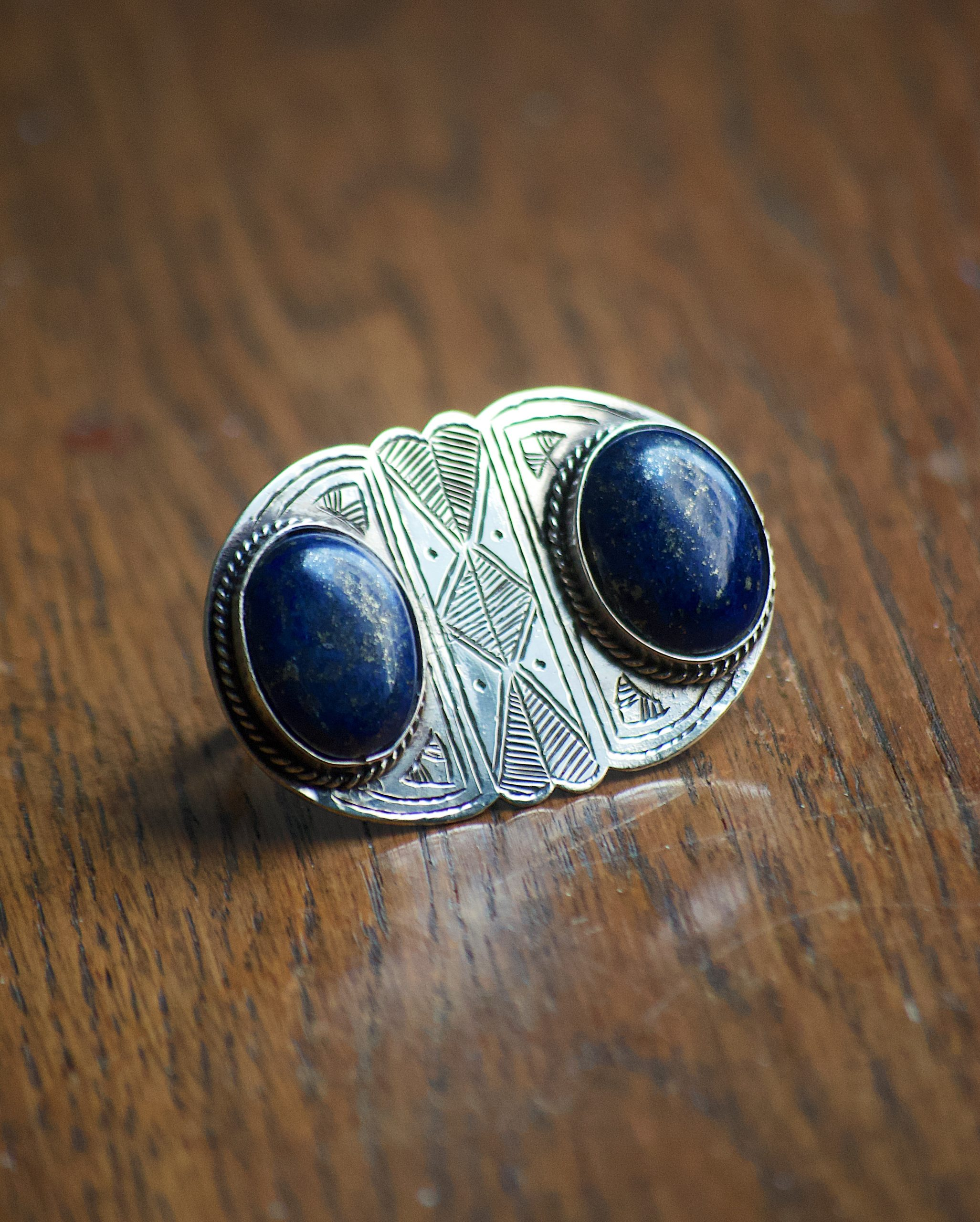 Sterling Silver Ring in Lapis Lazuli