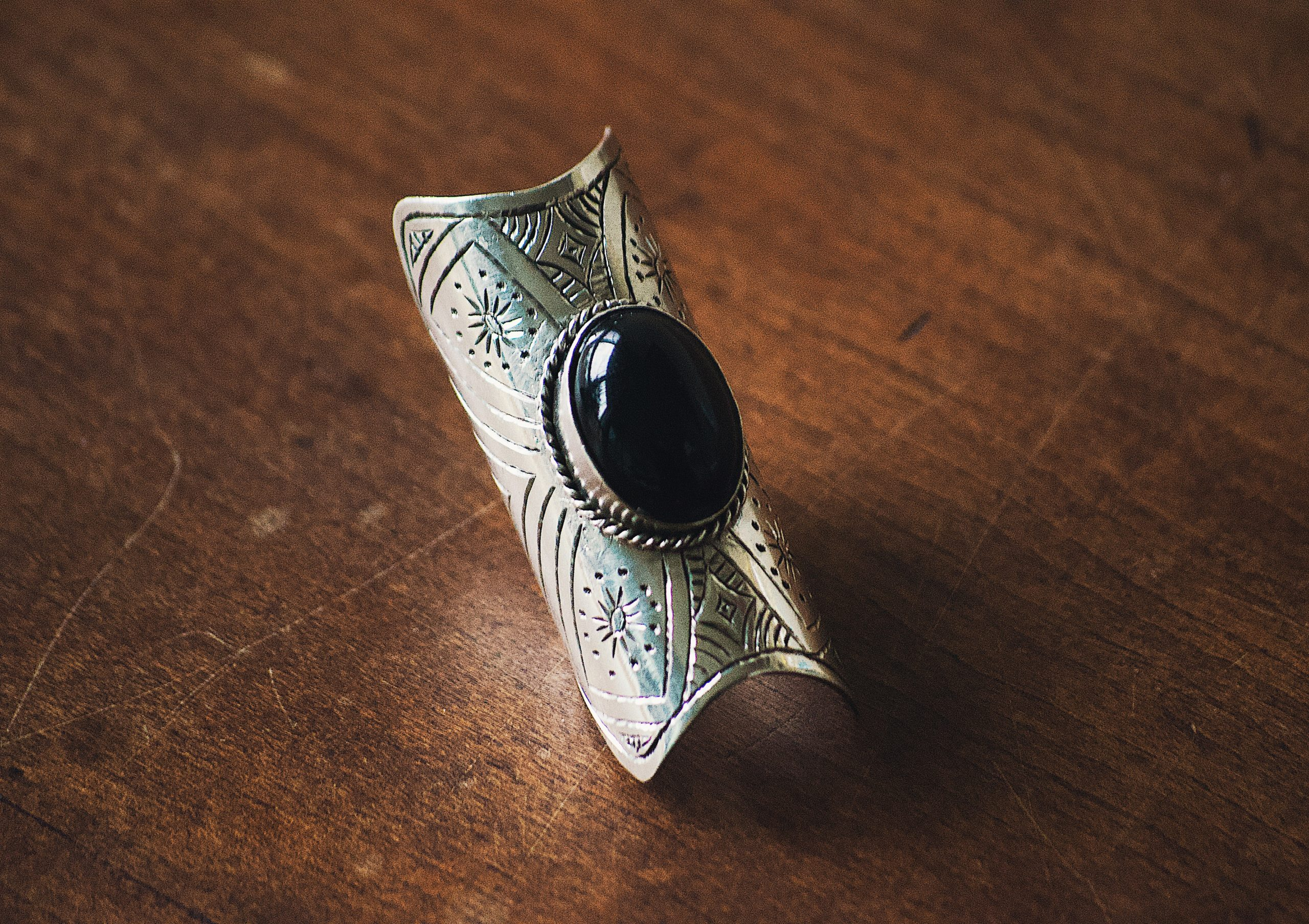 Sterling Silver Ring in Onyx