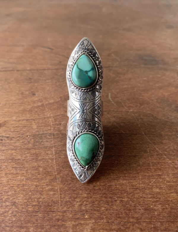 Jebel Collective Desert Lily Ring in Tibetan Turquoise from the Tribal Elements Collection