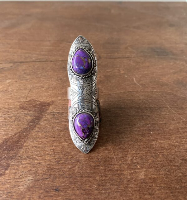 Jebel Collective Desert Lily Ring in Purple Copper Mohave Turquoise from the Tribal Elements Collection