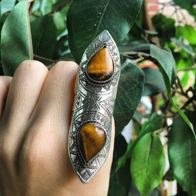 Jebel Collective Desert Lily Ring in Tiger's Eye from the Tribal Elements Collection